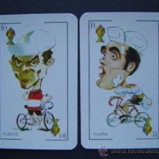 Coleccionismo deportivo: FUENTE Y OCAÑA ( CICLISMO ) - CROMOS NAIPES DE 1976 . Lote 50883089