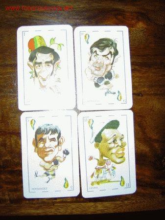 4 CROMOS NAIPES BOXEO ESPAÑOL - 1976 (Coleccionismo Deportivo - Álbumes otros Deportes)