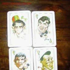 Coleccionismo deportivo: 4 CROMOS NAIPES BOXEO ESPAÑOL - 1976. Lote 25980847