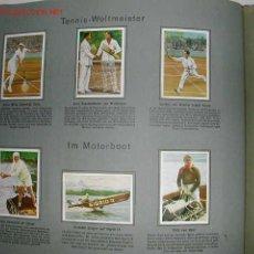 Coleccionismo deportivo: ALBUM COMPLETO TABACO ALEMAN AÑOS 20. . 162 CROMOS DEPORTES, TRENES, FERROCARRILES,. Lote 26789801