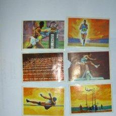 Coleccionismo deportivo: LOTE DE 7 CROMOS (DISTINTOS) DE ATLETISMO (EL DEPORTE VISTO POR SUS ASES). CHOCOLATES NESTLÉ. 1967.. Lote 27014028