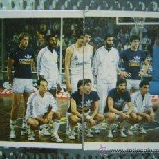 Coleccionismo deportivo: REAL MADRID - EQUIPO COMPLETO BASKET (2 CROMOS NUEVOS) - TRIDEPORTE 84 EDITORIAL FHER. Lote 26918894