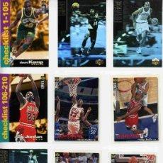 Coleccionismo deportivo: NBA UPPER DECK 1995-96 ( 95 96 ) 168 FICHAS + ALBUM. Lote 14962638