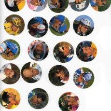 Coleccionismo deportivo: TAZOS CICLISMO CICLISTAZOS EL PAIS COLECCION COMPLETA DEL 1 AL 20 INDURAIN ROMMINGER CHICPUCCI ZULL. Lote 15055931