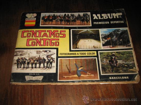 ALBUM PROMOCION DEPORTIVA CONTAMOS CONTIGO FALTAN 87 DE 310 (Coleccionismo Deportivo - Álbumes otros Deportes)