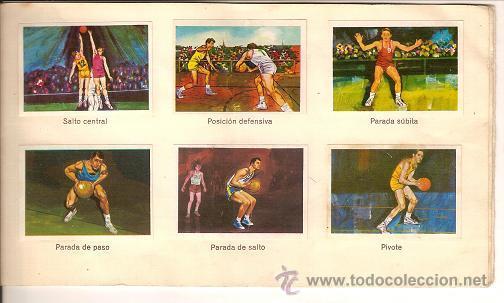 Coleccionismo deportivo: 0031 -EL DEPORTE VISTO POR SUS ASES Nº 3 - CHOCOSPORT NESTLE - BALONCESTO - COMPLETO - 1967 - Foto 3 - 26163882