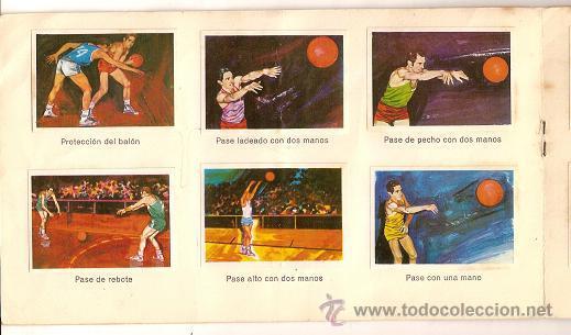 Coleccionismo deportivo: 0031 -EL DEPORTE VISTO POR SUS ASES Nº 3 - CHOCOSPORT NESTLE - BALONCESTO - COMPLETO - 1967 - Foto 4 - 26163882