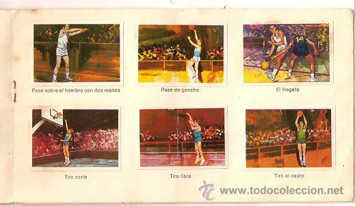 Coleccionismo deportivo: 0031 -EL DEPORTE VISTO POR SUS ASES Nº 3 - CHOCOSPORT NESTLE - BALONCESTO - COMPLETO - 1967 - Foto 5 - 26163882
