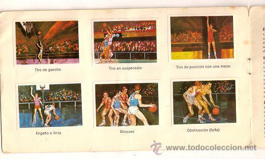 Coleccionismo deportivo: 0031 -EL DEPORTE VISTO POR SUS ASES Nº 3 - CHOCOSPORT NESTLE - BALONCESTO - COMPLETO - 1967 - Foto 6 - 26163882