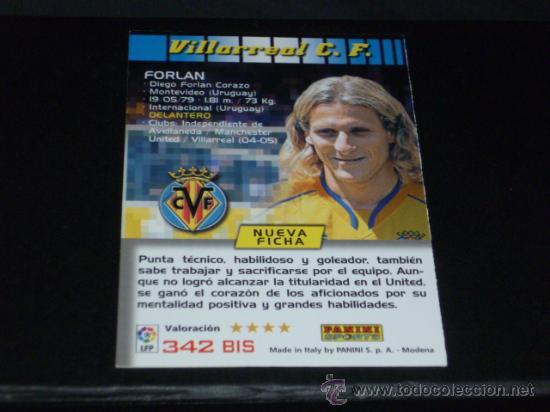 MEGACRACKS 2004/05 – 342 BIS FORLÁN ( 3ª EDICIÓN ) - VILLARREAL CF - 04/05 ( ) (Coleccionismo Deportivo - Álbumes otros Deportes)