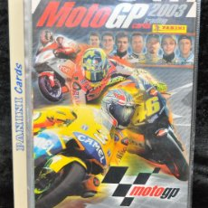 Coleccionismo deportivo: ALBUM DE CROMOS DE MOTO GP 2003, CON MUCHOS CROMOS EN EL INTERIOR.. Lote 24875406