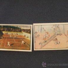 Coleccionismo deportivo: LOTE 2 CROMOS - DEPORTES VARIOS - TENIS - 2º ALBUM GALLINA BLANCA -. Lote 27040823