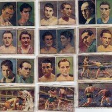 Coleccionismo deportivo: SERIE COMPLETA DE BOXEO, ALBUM GALLINA BLANCA 1949. Lote 27427344