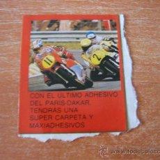 Coleccionismo deportivo: ADHESIVO DEL PARIS DAKAR . Lote 27583762