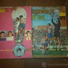 Coleccionismo deportivo: .CAMPEONATO DE LIGA 1969-1970 DE DISGRA. ALBUM DE CROMOS. SOLO FALTAN 2 CROMOS. Lote 28332303
