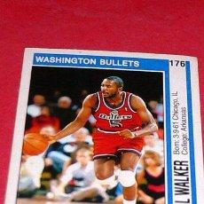 Coleccionismo deportivo: WASHINGTON BULLETS: DARREL WALKER - PANINI - FICHA NBA 91/92. Lote 28458697