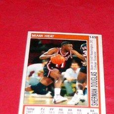 Coleccionismo deportivo: MIAMI HEAT: SHERMAN DOUGLAS - PANINI - FICHA NBA 91/92. Lote 28454689