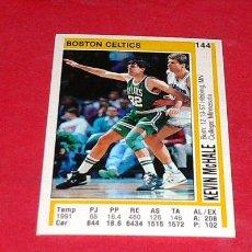 Coleccionismo deportivo: BOSTON CELTICS: KEVIN MCHALE - PANINI - FICHA NBA 91/92. Lote 28454701