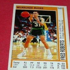 Coleccionismo deportivo: MILWAUKEE BUCKS: FRED ROBERTS - PANINI - FICHA NBA 91/92. Lote 28454703
