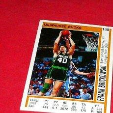 Coleccionismo deportivo: MILWAUKEE BUCKS: FRANK BRICKOWSKI - PANINI - FICHA NBA 91/92. Lote 28454705