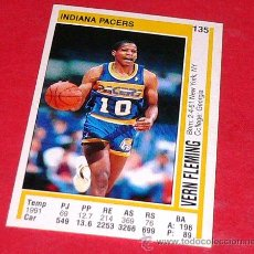 Coleccionismo deportivo: INDIANA PACERS: VERN FLEMING - PANINI - FICHA NBA 91/92. Lote 28454711