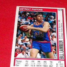 Coleccionismo deportivo: DETROIT PISTONS: BILL LAIMBEER - PANINI - FICHA NBA 91/92. Lote 28454716