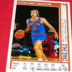Coleccionismo deportivo: CLEVELAND CAVALIERS: CRAIG EHLO - PANINI - FICHA NBA 91/92. Lote 28454727