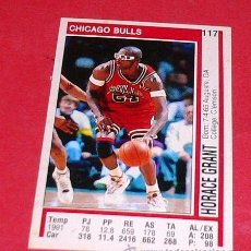 Coleccionismo deportivo: CHICAGO BULLS: HORACE GRANT - PANINI - FICHA NBA 91/92. Lote 28454733