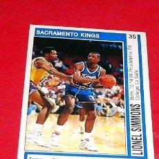 Coleccionismo deportivo: SACRAMENTO KINGS: LIONEL SIMMONS - PANINI - FICHA NBA 91/92. Lote 28458479