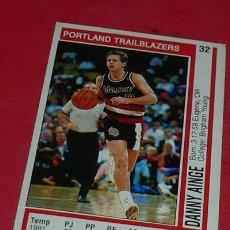 Coleccionismo deportivo: PORTLAND TRAILBLAZAERS: DANNY AINGE - PANINI - FICHA NBA 91/92. Lote 28458504