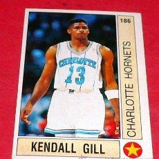 Coleccionismo deportivo: TOP ROOKIES: KENDALL GILL - CHARLOTTE HORNETS - PANINI - FICHA NBA 91/92. Lote 28458686