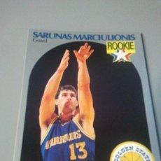 Coleccionismo deportivo: CARD SARUNAS MARCIULIONIS NBA 90/91. Lote 28632054