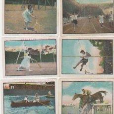 Coleccionismo deportivo: DEPORTES. LOTE DE 6 CROMOS.(6X9) CHOCOLATES GIRALDA.. Lote 28853045
