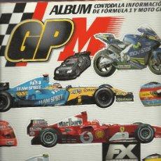 Coleccionismo deportivo: ALBUM DE CROMOS CON TODA LA INFORMACION DE FORMULA 1 Y MOTO GP CON 75 CROMOS. Lote 29030513