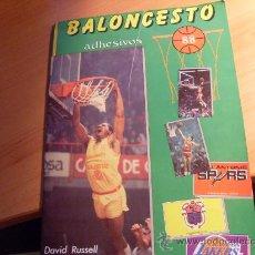 Coleccionismo deportivo: BALONCESTO 88 ( EDITORIAL MERCHANTE ) ( ALBUM COMPLETO CON EXTRA DE MATES ) (COIB89). Lote 29363043