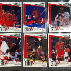 Coleccionismo deportivo: LOTE 6 CARDS NBA 1997 - 98 CATCH 23 MICHAEL JORDAN SIN REPETIR UPPER DECK COLLECTOR'S CHOICE CROMOS. Lote 29733823