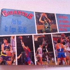 Coleccionismo deportivo: FICHERO-ALBUM LIGA DE BALONCESTO 89/90. GIGANTES DEL BASKET. CONTIENE 16 FICHAS.. Lote 29811807