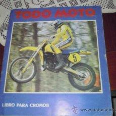 Coleccionismo deportivo: ALBUM CROMOS TODO MOTOR COMPLETO. Lote 29869319