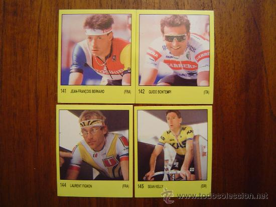 CICLISMO - 4 CROMOS DIFERENTES Y NUEVOS DE SUPERSPORT ( PANINI - 1988 ) (Coleccionismo Deportivo - Álbumes otros Deportes)