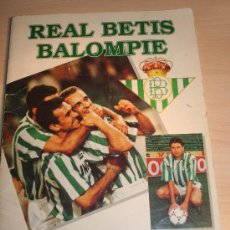 Coleccionismo deportivo: REAL BETIS BALOMPIE.ALBUM DE CROMOS. MUNDO BETICO. PRODUCTO OFICIAL. INCOMPLETO. Lote 30397534