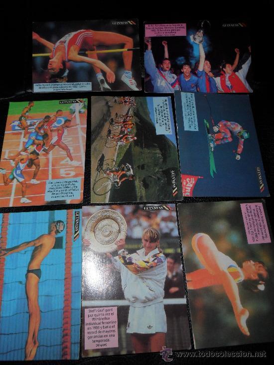 LOTE CARDS DEPORTES GUINNESS RECORDS, CARTAS PROMOCIONALES DE CHEERIOS MIEL ALMENDRAS (Coleccionismo Deportivo - Álbumes otros Deportes)