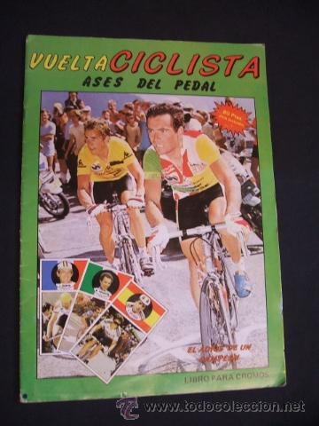 ALBUM DE CROMOS - VUELTA CICLISTA - ASES DEL PEDAL - CONTIENE 48 CROMOS - J. MERCHANTE - (Coleccionismo Deportivo - Álbumes otros Deportes)