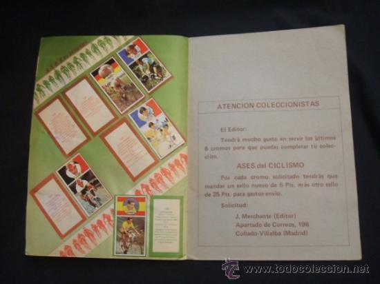 Coleccionismo deportivo: ALBUM DE CROMOS - VUELTA CICLISTA - ASES DEL PEDAL - CONTIENE 48 CROMOS - J. MERCHANTE - - Foto 10 - 30785085