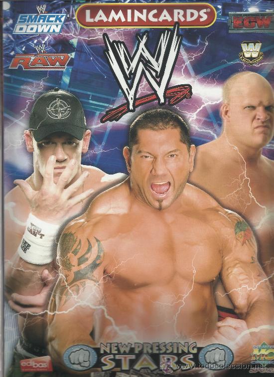 WRESTLING NEW PRESSING CATCH STARS SMACK DOWN RAW ECW WLEGENDS MC 2008 COLECCION COMPLETA LAMINCARDS (Coleccionismo Deportivo - Álbumes otros Deportes)