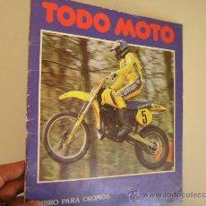 Coleccionismo deportivo: TODO MOTO ,VACIO, 1983 .REF ALBUMES C1. Lote 31744876