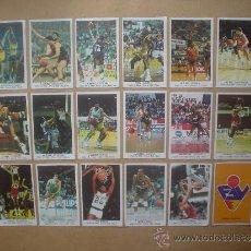 Coleccionismo deportivo: BALONCESTO CROMO LOTE 18 CROMOS 1988 J.MERCHANTE BASKET ACB CONVERSE. Lote 33173009