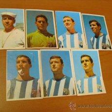 Coleccionismo deportivo: 6 CROMOS DEL MALAGA, FUTBOL COLOR 1967 DE BRUGUERA, SACADOS DE ALBUM. Lote 33252980