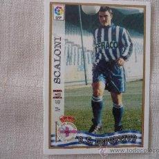 Coleccionismo deportivo: MUNDICROMO FICHAS DE LA LIGA 97/98 Nº 49 UH SCALONI (DEPORTIVO CORUÑA) – FUTBOL 1997 / 1998. Lote 245466905