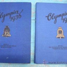 Coleccionismo deportivo: ANTIGUOS DOS TOMOS - OLYMPIA 1936 - OLIMPIADAS BERLIN Y JUEGOS DE INVIERNO - ALBUMS COMPLETOS - CROM. Lote 33667694