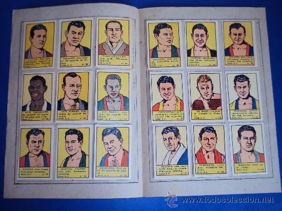 Coleccionismo deportivo: (AL-103)ALBUM CROMOS DE BOXEADORES Nº3 DEPORTES E INSTRUCCIÓN. VALENCIANA 1941(COMPLETO) - Foto 2 - 36011424